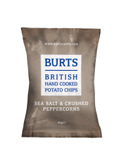 Burts Sea Salt & Crushed Peppercorns 40g