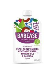 Babease Pear Mixed Berries & Quinoa 100g