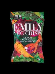 Emily Veg Crisps Crunchy Sweet Potato, Carrot & Beetroot 23g