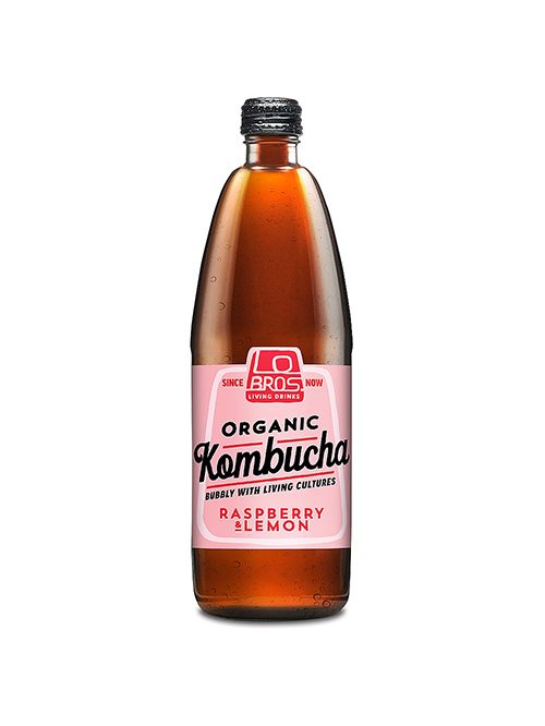 Lo Bros Kombucha Raspberry & Lemon 750ml